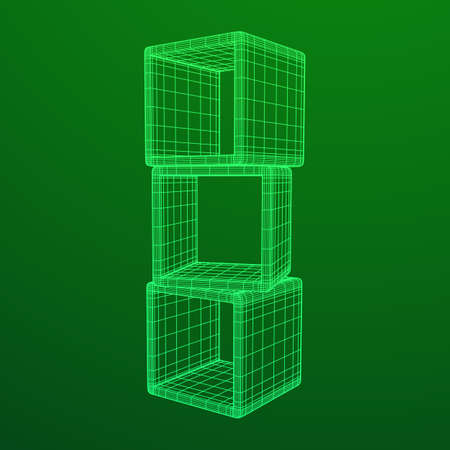 Product display boxes 3D.