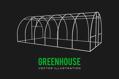 Greenhouse construction frame.
