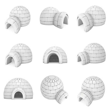 Igloo icehouse 3D Stock Photo
