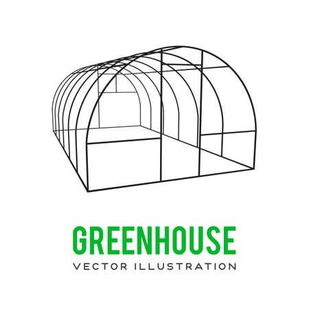Greenhouse construction frame Ilustração