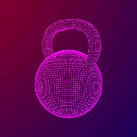 Heavy kettle bell isolated on background
