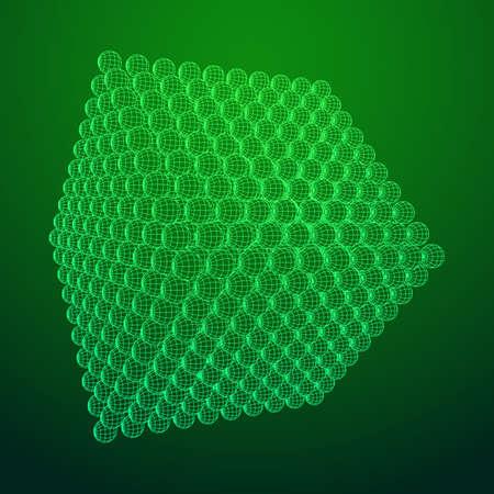Green circular blueprint.