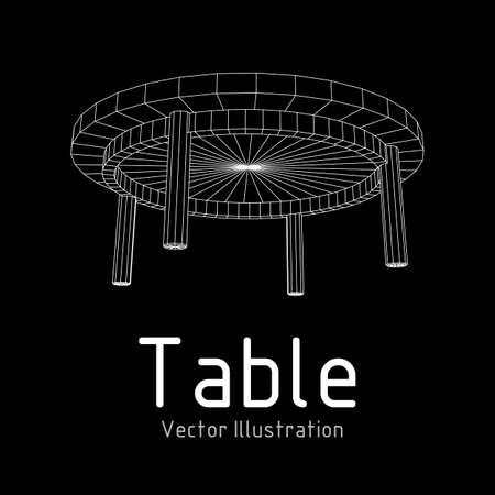 Table furniture blueprint.