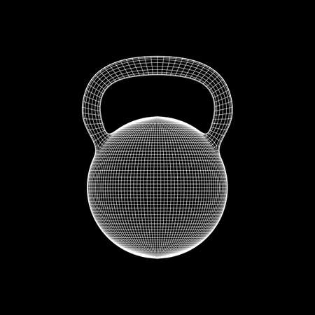 Heavy kettle bell isolated on black background