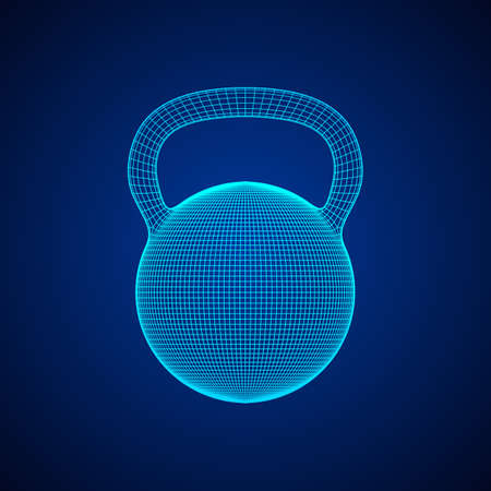 Heavy kettle bell isolated on white background