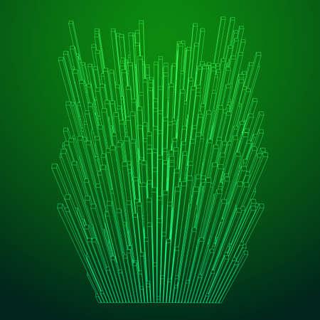 Big data visualization vector concept