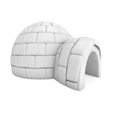 Igloo icehouse 3D Stock Photo - 90237888