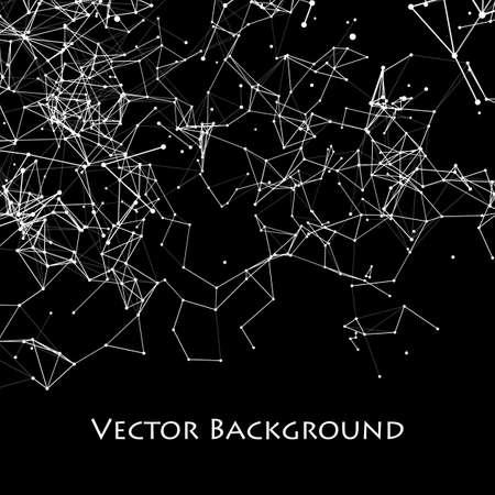 Abstract Network Plexus Background.
