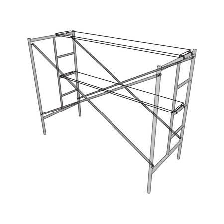 Scaffolding construction illustration.