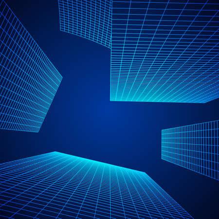 Mesh Cubes City Array  イラスト・ベクター素材