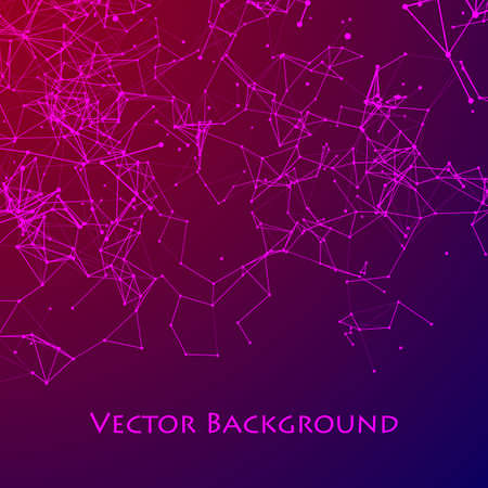 Abstract Network and Connect Background. Dots Connected by Lines. Digital data and deep web concept. Vector illustration