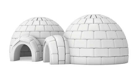 Igloo Icehouse 3D Stockfoto