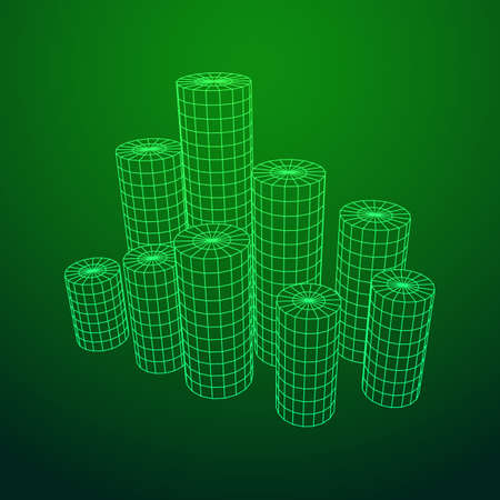 Mesh Cylinder City Array Stock fotó