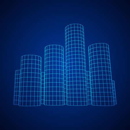 Mesh cylinder city array