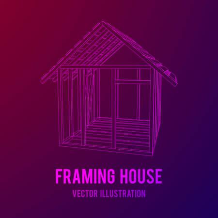 Framing house vector design