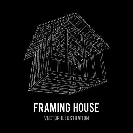 conception de vecteur de maison de cadrage Vecteurs