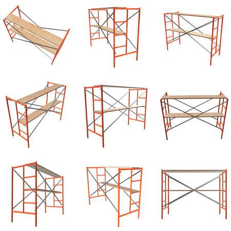 Scaffolding metal construction 스톡 콘텐츠