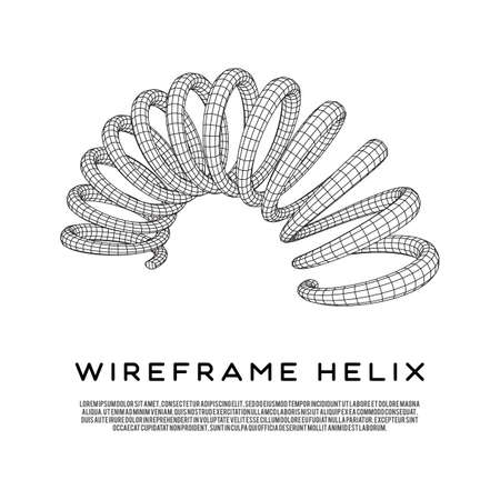 Wireframe helix spring Stock Vector - 91945473