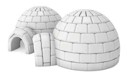 Igloo icehouse 3D Stock Photo