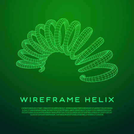 Wireframe helix spring