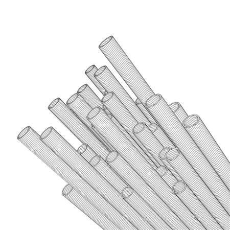 Wire frame mesh illustration. Illustration