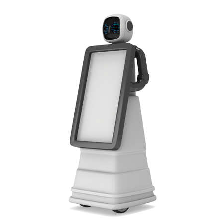 Robot Promoter 3d isolated on a white background