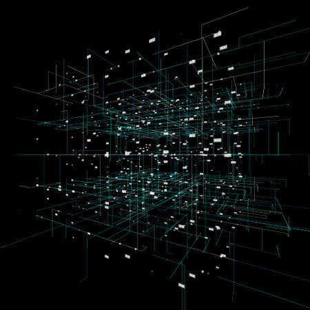Big data visualization background.