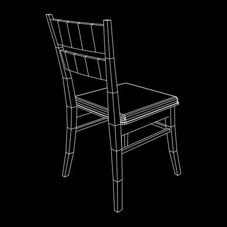 Chair with backrest wire frame
