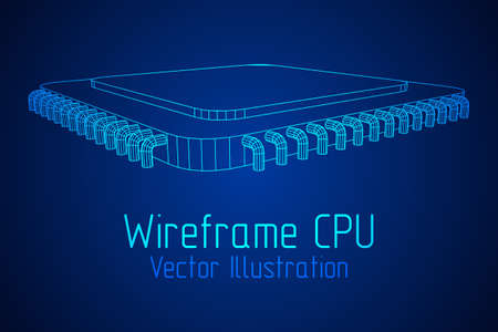 CPU wireframe