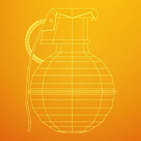Vector hand grenade bomb 3d