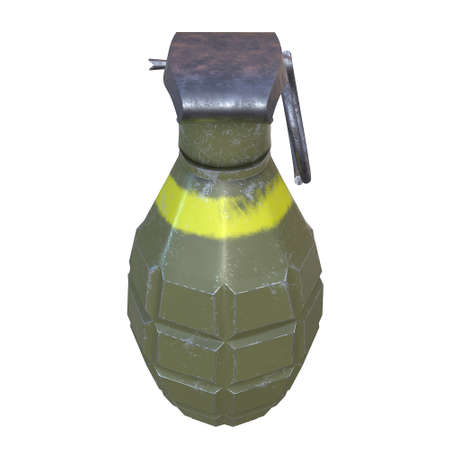 isolated hand bomb with white background Stock Photo