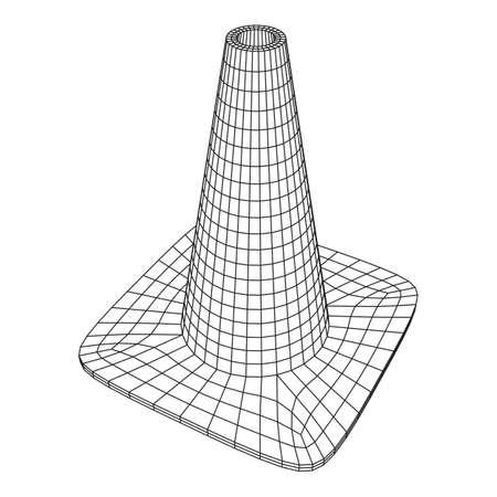Traffic cone  Road sign Vector illustration. Ilustração