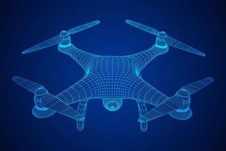 Remote control air drone illustration