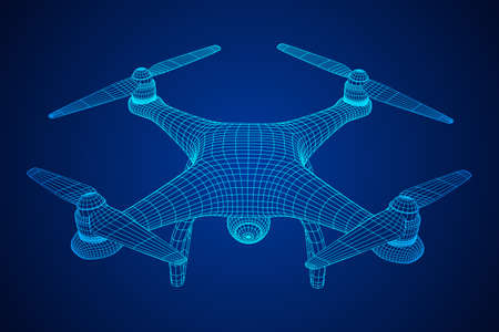 Remote control air drone illustration