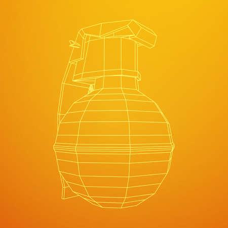 Vector hand bomb