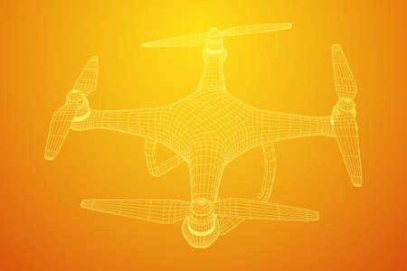 Remote control air drone icon