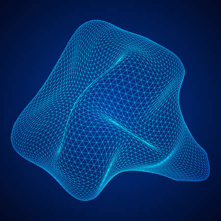 Abstract wireframe mesh