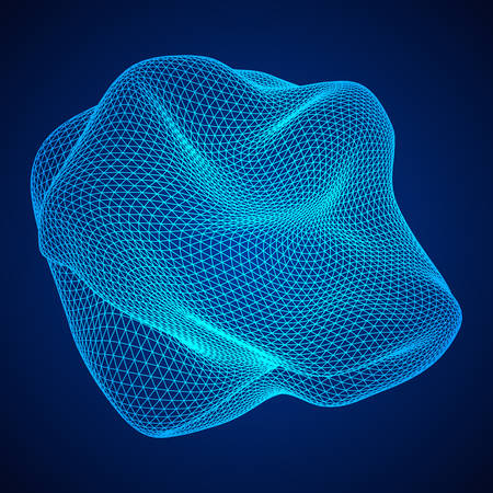 Abstract blue wireframe mesh Illustration
