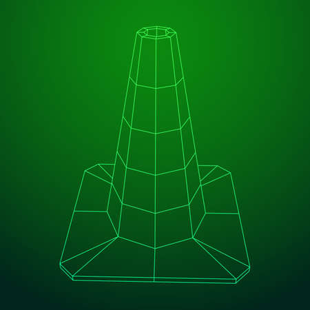Traffic cone. Road sign isolated on plain background.