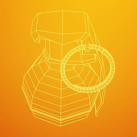 Een vectorhandbom die op duidelijke achtergrond wordt geïsoleerd. Stockfoto - 97011344