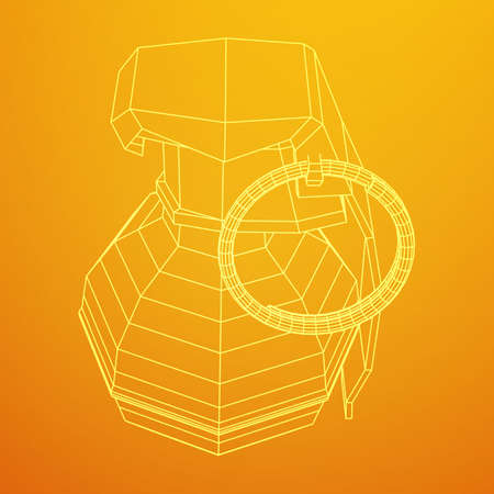 A Vector hand bomb isolated on plain background.