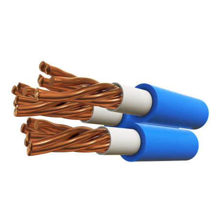 Copper electrical cable 3d