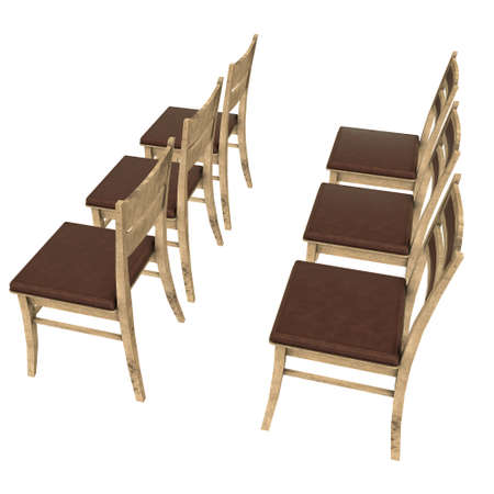 Chair with backrest 3d