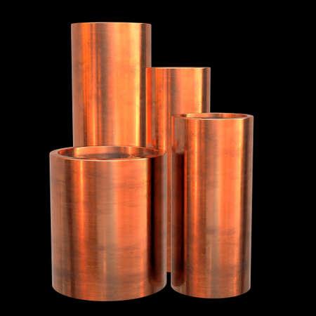 Copper pipes or tubes Reklamní fotografie - 97832021
