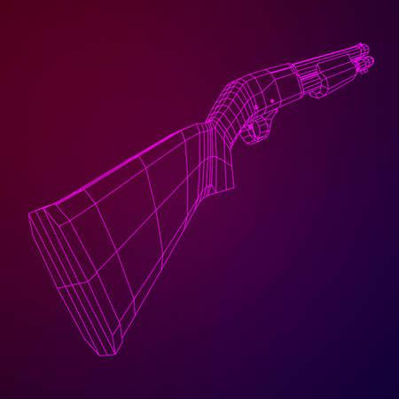 Shotgun rifle vector illustration