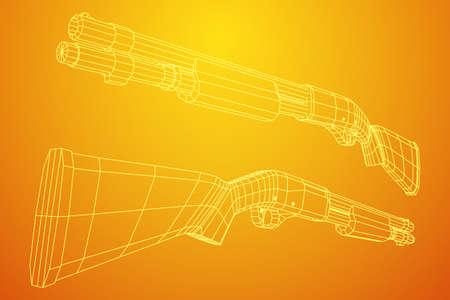 Shotgun rifle vector illustration