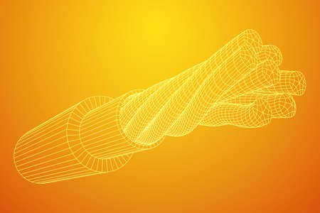 Electrical cable wireframe