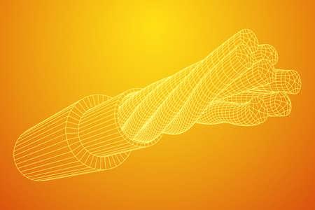 Câble électrique filaire Banque d'images - 98411332