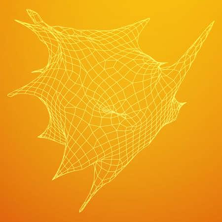 Bacteria virus wire frame mesh. Illustration