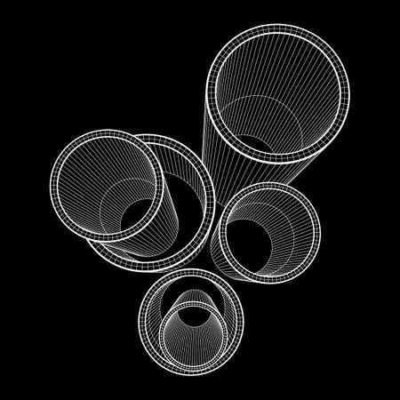 Wire frame metallurgy round tubes.